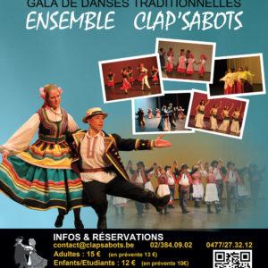 Gala de danses traditionnelles par l'Ensemble Clap'Sabots – 38ème année